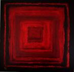 peinture Marie Guerin carré rouge
